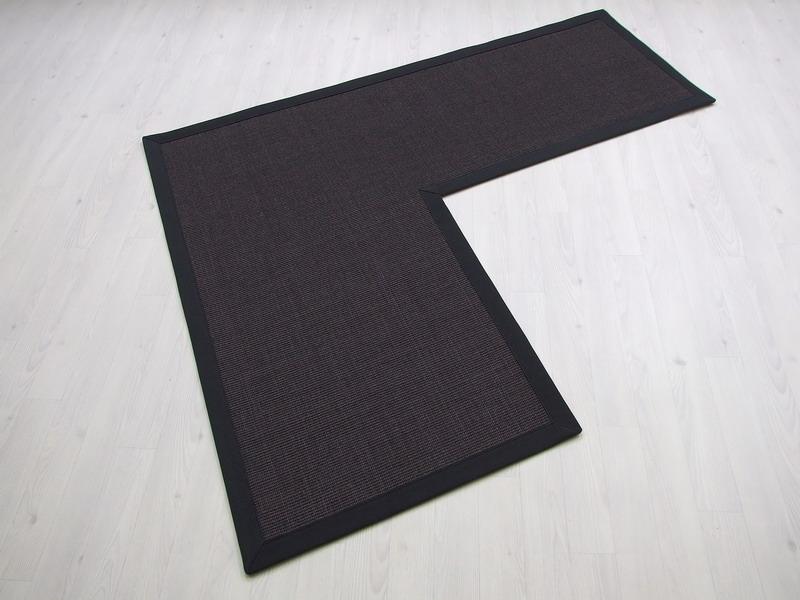 tappeto sisalpiano sagomato bordo fettuccia cotone crea il tuo tappeto