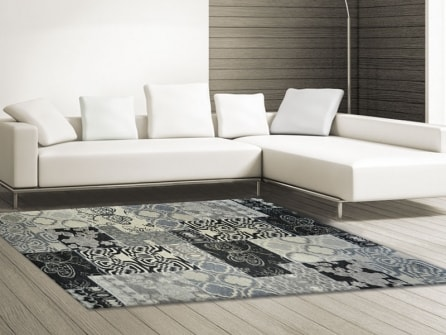 Outlet tappeto modern kilim 3k bianco nero tappeto su - Tappeto bianco nero ...