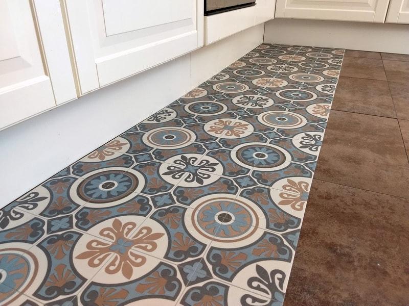 Outlet capri runner 50 azzurro tappeto pvc lavabile for Tappeto lavabile soggiorno