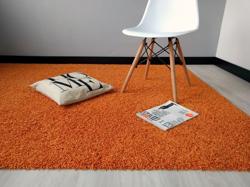 Outlet acqualine arancio lavabile in lavatrice tappeto su misura - Lavare tappeti in lavatrice ...