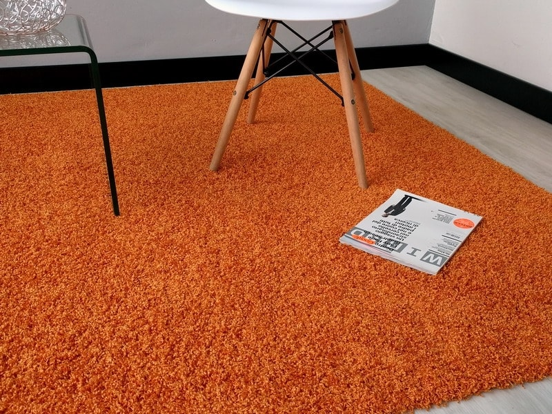Outlet acqualine arancio lavabile in lavatrice tappeto - Lavare tappeti in lavatrice ...