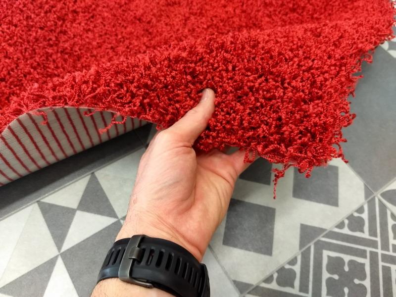 Outlet acqualine rosso cuore lavabile in lavatrice tappeto su misura - Lavare tappeti in lavatrice ...
