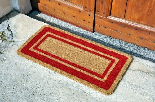 tappetosumisura® | outlet > zerbino cocco con bordo rosso