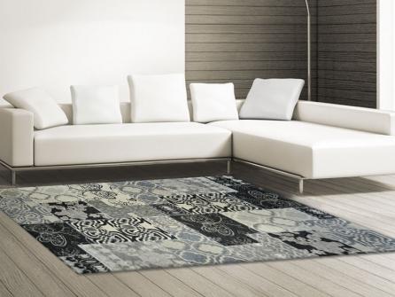 Outlet tappeto modern kilim 3k bianco nero tappeto su for Tappeto nero moderno