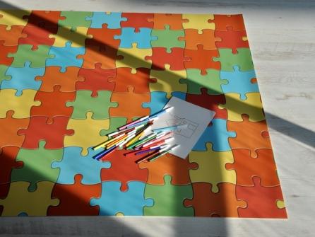 Outlet crazy puzzle 100x160 cm tappeto gioco bambini - Tappeto puzzle per bambini ikea ...