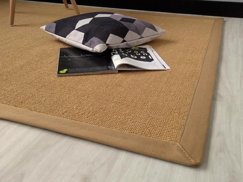Tappeti In Tessuto Naturale : Fibra naturale a spina di pesce tessuto piano tappeto marrone