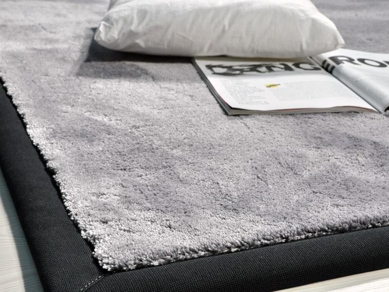 Tappeti Feltro Su Misura: Tappeto moderno in lino pelle lana feltro color.